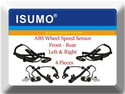 4 ABS Wheel Speed Sensor Front Rear L&R Fits:Town & Country Grand Caravan 08-11