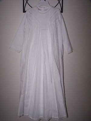 NWT Will'beth Infant Christening Gown with Matching Bonnet Long Sleeve Size 12 M