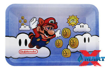 "RYO DABTENDO ""Super Mario Bros"" Cigarette Tobacco Metal Small Rolling Tray 7x5"