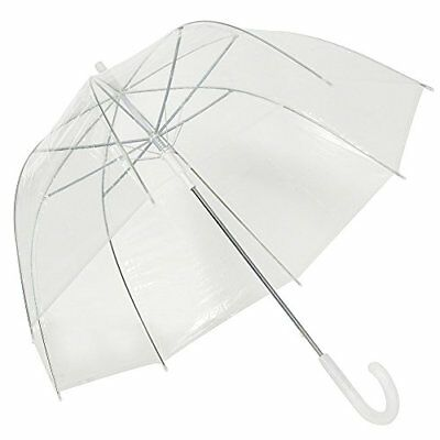Clear Bubble Umbrella Dome Shape Transparent Umbrella For Weddings Windproof By