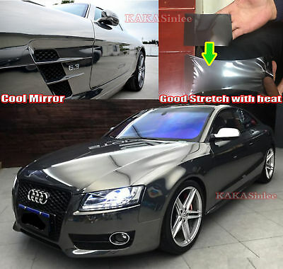 Quick Super Stretchable Mirror Car Glossy Chrome Vinyl Wrap Soft Sticker ABUS