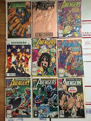 Avengers 1980s - 1990s Key Issue Comic LOT! Thanos, What If, Evolutionary War