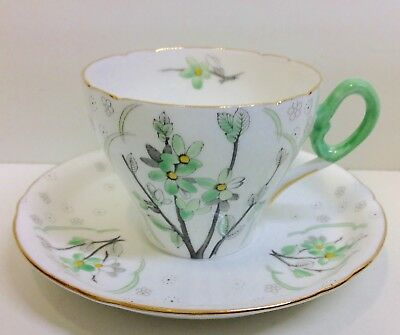 "Shelley Cambridge Shape ""Blossom"" Pattern Coffee Cup & Saucer."