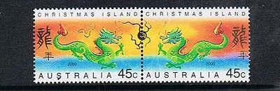 Stamps Australia  Christmas Island  2000 Year Of The Dragon  Stamps  (Mnh) C11