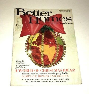Better Homes And Gardens A World of Christmas Ideas Vintage December 1968 Issue