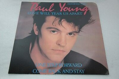"LOVE WILL TEAR US APART by PAUL YOUNG - Vinyl Maxi Single 1983 - 45rpm/12"" - EUC"