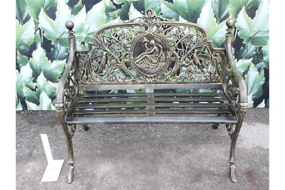 Cast Iron Mini One Lady Bench Seat Chair Stool Garden Patio Lawn Bronze Finish