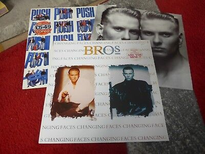 BROS - PUSH, THE TIME & CHANGING FACES VINYL LP RECORDS (EX CONDITION) Job Lot