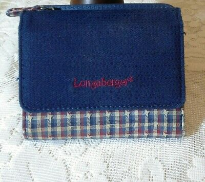Longaberger Wallet Red White Blue Plaid