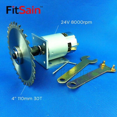 "FitSain-775 motor DC24V 8000RPM 4"" 110mm circular saw blade for wood cutting"