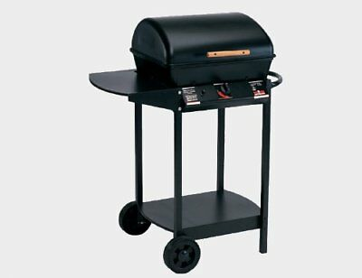 Landmann Gas Barbecue Wagon Lava Rock Painted Steel Sheet Movable