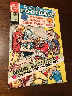 CHARLTON COMICS- PROFESSIONAL FOOTBALL #1 1 SHOT! 1969/70 Namath! Jets SB