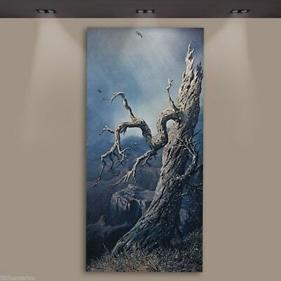 """Fred Freeden Goldberg """"Tree At Canyon"""" Oil Painting Original Signed"""