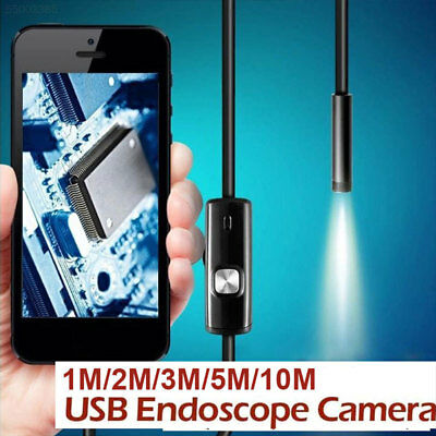 8F64 7mm 6LED Endoscope Adjustable Borescope HD Inspection Camera For iPhone PC