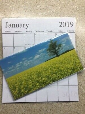1-2019-2020 SCENERY YELLOW GREEN FIELD 2 Year  Pocket Calendar planner