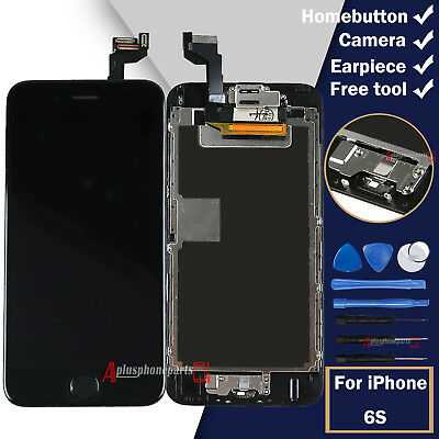 Digitizer Display For iPhone 6S Black LCD Touch Screen + Home Button Camera UK