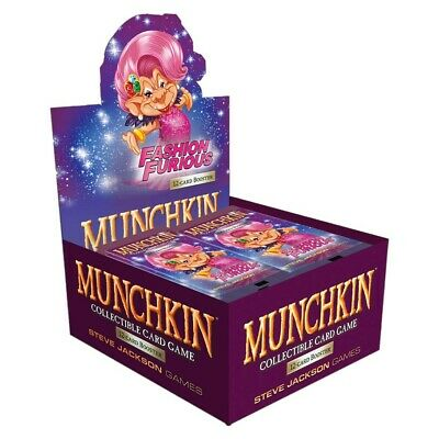 Munchkin CCG Fashion Furious BD Card Expansion Display Box Steve Jackson Games
