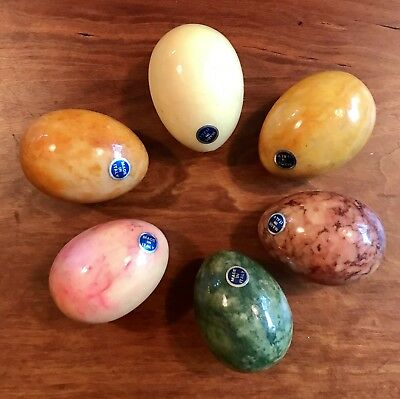 Easter Eggs Alabaster Egg Marble Egg Granite Egg Various Colors Made in Italy 6