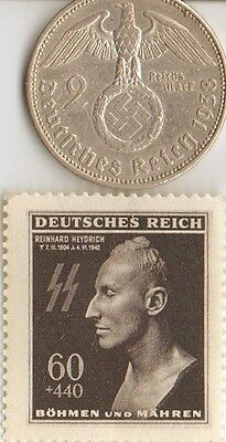 -*R... H....Death  Mask  Stamp  +  *WWII - *US  and  *german  coins / stamps+..