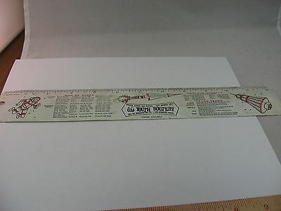 Rare Vintage Advertising Ruler: Al's Youth Bootery Los Angeles California USA