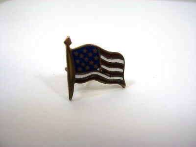 Antique Vintage Collectible Pin: American Flag Beautiful Design