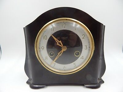 Smiths Enfield 8 Day Mantel Clock Art Deco Vintage