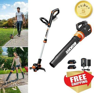 WORX 5-Piece Cordless Power Equipment Combo Kit Weedeater Blower w/ Battery NEW!