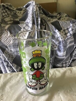 Looney Tunes Drinking Glasses 6' Tall 16oz 1996 WB Marvin The Martian