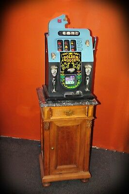 1948 Mills Golden Nugget 50 Cent Fish Mouth Slot Machine Reproduction No Reserve