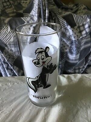 "Looney Tunes Drinking Glasses 6"" Tall 16oz Tumbler 1994 Pepe Le Pew"