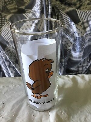 RARE Looney Tunes Drinking Glasses 6' Tall 16oz Tumbler 1994 Henry Hawk