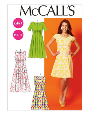 McCalls 6958 Pattern, Shaped Dress with back & front Tuck detail,  8-16, EASY