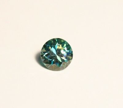 0.94ct Blue Moissanite Round - Beautiful Precision Cut Gem