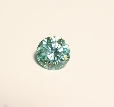 0.86ct Blue Moissanite Round - Beautiful Precision Cut Gem