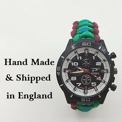 Paracord Watch with Royal Regiment of Scotland (RROS) Colours a Great Gift