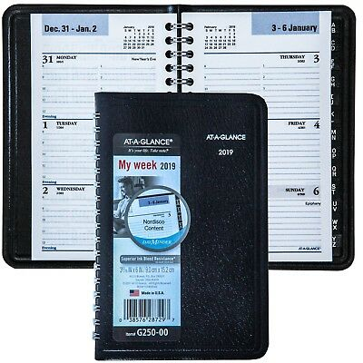 """2019 At-A-Glance DayMinder G250-00 Weekly Appointment Book, 3-9/16 x 6"""""""