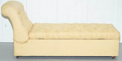 Original Period Howard & Sons Chaise Lounge Daybed Ottoman Base & Recliner Back