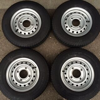 "4x 165R13C 8Ply new trailer Wheels and tyres 4 Stud 5.5"" PCD 165R13 165 R13C"