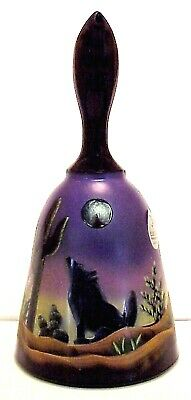 Fenton Glass Designer Series Dessert Moon Howling Coyote Bell  Limited to 1500