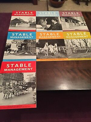 Stable Management Magazines 1970's