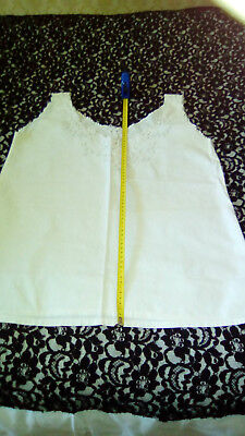 Antique French Embroidered Cutwork Butterflies And Flowers Fine Linen Camisole