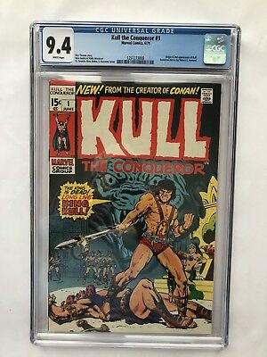 Kull the Conqueror #1 (Jun 1971, Marvel) CGC 9.4 White pages.