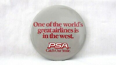 Vintage PSA Pacific Southwest Airlines Button Great Airlines. . . In The West