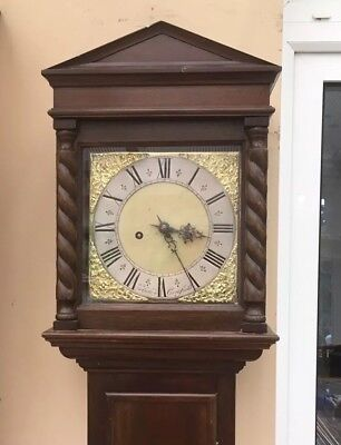 Antique Grandfather Clock 8 Day By E Gatland Of Cuckfield