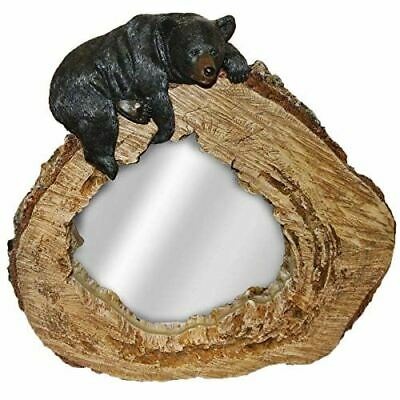 Lounging Bear On Tree Trunk Mirror