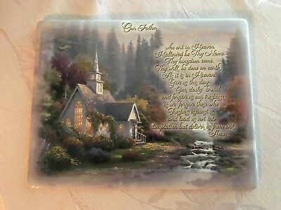2001 Thomas Kinkade THE FOREST CHAPEL 1st Issue Limited Plate Plaque