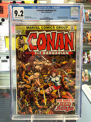 Conan The Barbarian #24 CGC 9.2 Off-White White Pages 1st Appearance Red Sonja