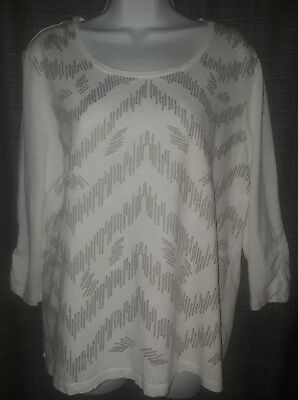 Lot Of 4 Zenergy By Chico S Size 2 Short Sleeve Womens Blouses Tops