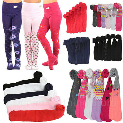 6pcs Baby Girls Toddlers Children Kids Warm Winter Printed Assorted Tights XS~XL