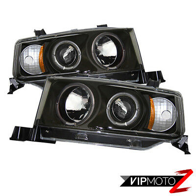 2004-2006 Scion Xb Bb 1NZ-FE 2NZ-FE Negro Halo Angel Eye Proyector Set de Faros